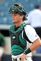 "University of South Florida Andrew Longley #14 during a game vs. the Miami Hurricanes in the ""Florida Four"" at George M. Steinbrenner Field in Tampa, Florida;  March 1, 2011.  USF defeated Miami 4-2.  Photo By Mike Janes/Four Seam Images"