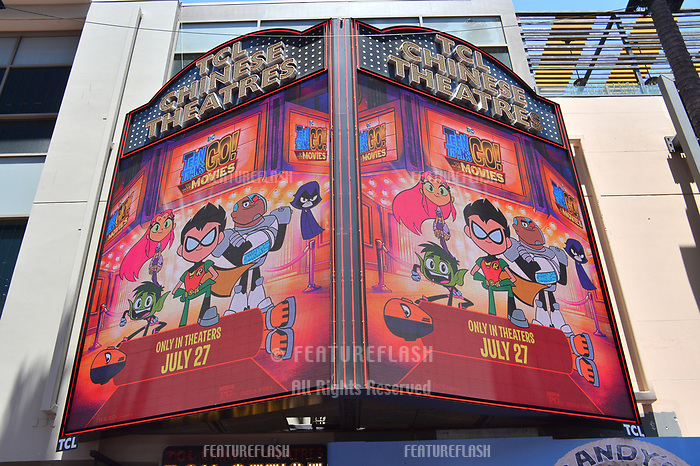 Atmosphere at the premiere for &quot;Teen Titans Go! to the Movies&quot; at the TCL Chinese Theatre, Los Angeles, USA 22 July 2018<br /> Picture: Paul Smith/Featureflash/SilverHub 0208 004 5359 sales@silverhubmedia.com