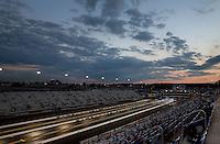 Sep 13, 2013; Charlotte, NC, USA; Overall view of zMax Dragway during NHRA qualifying for the Carolina Nationals at zMax Dragway. Mandatory Credit: Mark J. Rebilas-