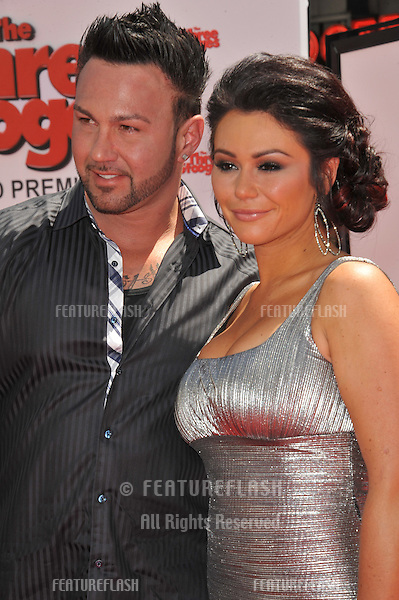 """Jersey Shore"" stars Jenny Farley & Roger Matthews at the world premiere of ""The Three Stooges"" at Grauman's Chinese Theatre, Hollywood..April 7, 2012  Los Angeles, CA.Picture: Paul Smith / Featureflash"