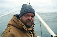 Skipper Steve Aarvik from Lynnwood, WA. onboard his boat the F/V Windjammer dragging for gray cod in the Bering Sea.