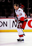 31 March 2010: Carolina Hurricanes' left wing forward Erik Cole warms up prior to a game against the Montreal Canadiens at the Bell Centre in Montreal, Quebec, Canada. The Hurricanes defeated the Canadiens 2-1 in their last home meeting of the regular season. Mandatory Credit: Ed Wolfstein Photo