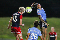 Piscataway, NJ - Saturday July 23, 2016: Joanna Lohman, Tasha Kai during a regular season National Women's Soccer League (NWSL) match between Sky Blue FC and the Washington Spirit at Yurcak Field.
