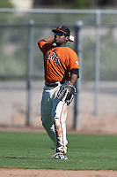 San Francisco Giants outfielder Byron Murray (49) during an Instructional League game against the SK Wyverns on October 14, 2014 at Giants Baseball Complex in Scottsdale, Arizona.  (Mike Janes/Four Seam Images)