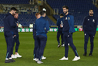Blackburn Rovers' players inspecting the pitch before the match <br /> <br /> Photographer Andrew Kearns/CameraSport<br /> <br /> The EFL Sky Bet Championship - Reading v Blackburn Rovers - Wednesday 13th February 2019 - Madejski Stadium - Reading<br /> <br /> World Copyright © 2019 CameraSport. All rights reserved. 43 Linden Ave. Countesthorpe. Leicester. England. LE8 5PG - Tel: +44 (0) 116 277 4147 - admin@camerasport.com - www.camerasport.com