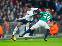 Tottenham's Dele Alli during the Premier League match between Tottenham Hotspur and West Bromwich Albion at Wembley Stadium, London, England on 25 November 2017. Photo by Andrew Aleksiejczuk / PRiME Media Images.