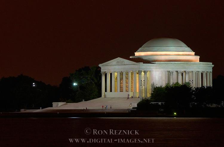 Jefferson Memorial at Night, Potomac Tidal Basin, Washington DC