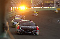 Nov. 21, 2009; Homestead, FL, USA; NASCAR Nationwide Series driver Kyle Busch leads the field during the Ford 300 at Homestead Miami Speedway. Mandatory Credit: Mark J. Rebilas-