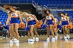 Texas Arlington Mavericks cheerleaders in action during the game between the UTSA Roadrunners and the Texas Arlington Mavericks at the College Park Center arena in Arlington, Texas. UTSA defeats UTA 59 to 57....