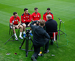 Nathan Thomas, Enda Stevens, George Baldock and Ched Evans are interviewed during the training session at the Shirecliffe Training complex, Sheffield. Picture date: June 27th 2017. Pic credit should read: Simon Bellis/Sportimage