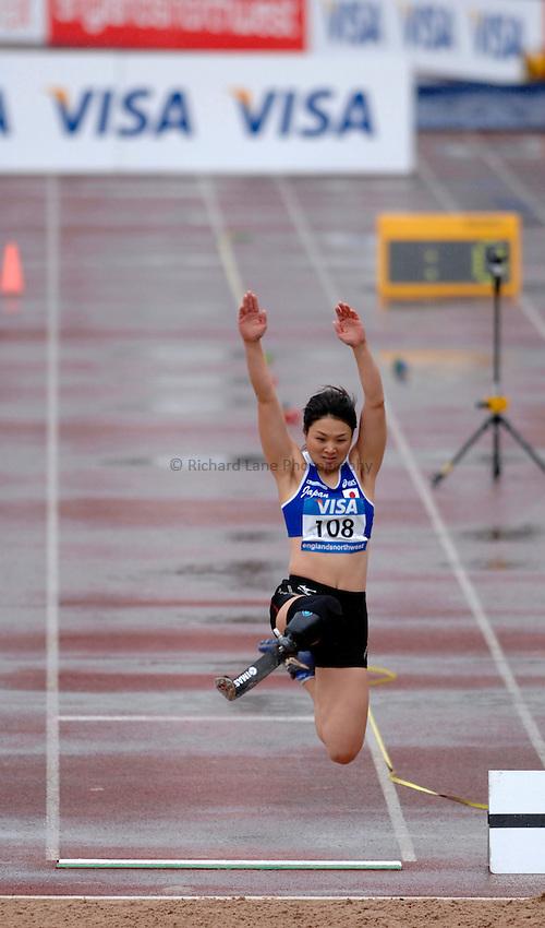 Photo: Richard Lane..VISA Paralympic World Cup 2007. Athletics. 13/05/2007. .Mami Sato of Japan in the women's F44 long jump.