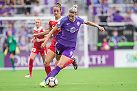 Orlando, FL - Saturday April 22, 2017: Alanna Kennedy during a regular season National Women's Soccer League (NWSL) match between the Orlando Pride and the Washington Spirit at Orlando City Stadium.