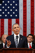 President Barack Obama delivers his State of the Union address to a joint session of Congress on Capitol Hill in Washington, Tuesday, Jan. 12, 2016.<br /> Credit: Evan Vucci / Pool via CNP
