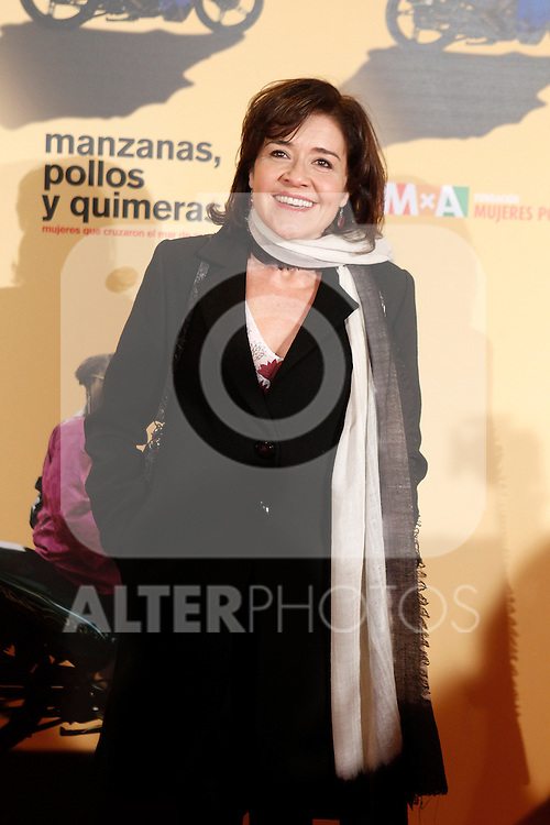 Spanish actress Maria Pujalte during the premiere of the documentary film about African women in Spain 'Manzanas, Pollos y Quimeras - Apples, Chicken and Chimeras' by Spanish director Ines Paris.October 29,2013. (ALTERPHOTOS/Acero)