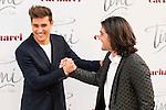 """Jorge Blanco and Adrian Salzedo attends to the premiere of the film """"Tini. El gran cambio de Violetta"""" at Callao Cinema in Madrid. April 27, 2016. (ALTERPHOTOS/Borja B.Hojas)"""