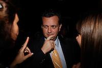 SAO PAULO, SP, 24 SETEMBRO 2012 - ELEICOES 2012 - DEBATE TV GAZETA / TERRA - O prefeito de Sao Paulo Gilberto Kassab antes do debate entre os candidatos a Prefeitura de Sao Paulo, realizado na TV Gazeta em Sao Paulo (SP), na noite desta segunda-feira (24) (FOTO: VANESSA CARVALHO / BRAZIL PHOTO PRESS).