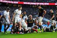 Schalk Burger of South Africa celebrates during the QBE International match between England and South Africa at Twickenham Stadium on Saturday 15th November 2014 (Photo by Rob Munro)