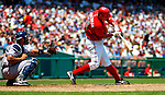 17 June 2006: Ryan Zimmerman (left), third baseman for the Washington Nationals, in action against the New York Yankees at RFK Stadium, in Washington, DC. The Nationals overcame a seven run deficit to win 11-9 in the second game of the interleague series...Mandatory Photo Credit: Ed Wolfstein Photo...