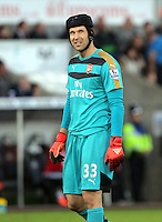 Petr Cech of Arsenal during the Barclays Premier League match between Swansea City and Arsenal at the Liberty Stadium, Swansea on October 31st 2015