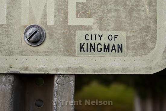 city of kingman sign; 7.04.2006<br />