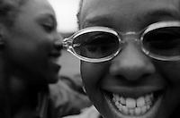Smiling friends at Camp Mariah (Carey), Fresh Air Fund, Fishkill, New York Summer 1997
