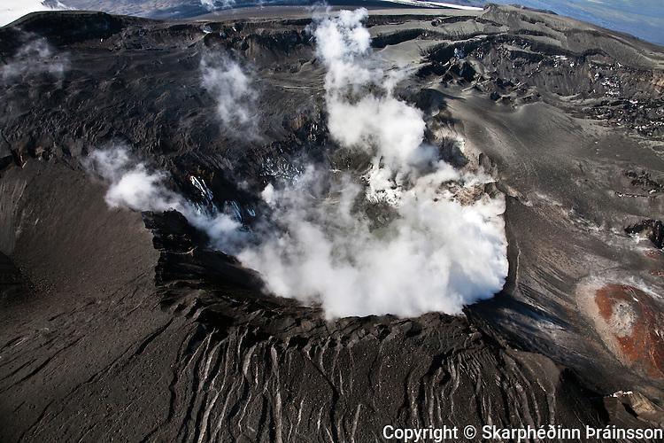 Crater Eyjafjallajökull, south Iceland