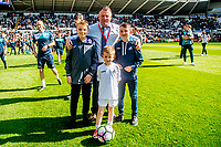 during the players lap of appreciation after the Premier League match between Swansea City and West Bromwich Albion at The Liberty Stadium, Swansea, Wales, UK. Sunday 21 May 2017 (Photo by Athena Pictures/Getty Images)