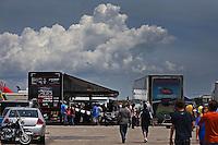 Apr. 28, 2013; Baytown, TX, USA: Pit area of NHRA funny car driver Blake Alexander during the Spring Nationals at Royal Purple Raceway. Mandatory Credit: Mark J. Rebilas-