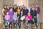 BAPTISED: Baby Mark Herlihy scartaglin with his parents Maura and Jim Herlihy family and friends in Ballygarry House Hotel & Spa, Tralee on Sunday after his christening in Our Lady of Lourdes Church, Scartaglin. Front l-r: Amy and Betty O'Sullivan, Dylan Herlihy, Maura, Jim and Mark Herlihy, Megan Herlihy, Peg Hogan and Tom O'Sullivan. Back l-r: Noelle,Sean and Glen O'Sullivan, Catherine and Patrick Murphy, Sheilanne Brosnan, Edel Fitzgerald, Patrick Herlihy, Micheal O'Sullivan, Mossie Herlihy, Mary Herlihy and Paul O'Sullivan.            ..
