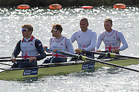 Caversham. Berkshire. UK<br /> GBR M4- Bow Alex GREGORY, Mo SBIHI, George NASH and Constantine LOULOUDIS.<br /> 2016 GBRowing European Team Announcement,  <br /> <br /> Wednesday  06/04/2016 <br /> <br /> [Mandatory Credit; Peter SPURRIER/Intersport-images]