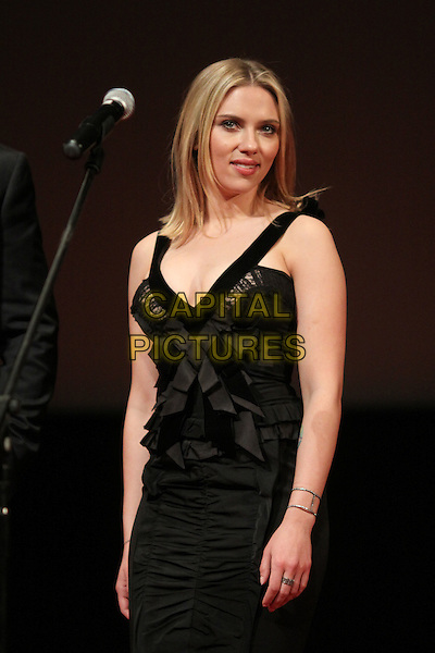 Scarlett Johansson.'Marvel's The Avengers' film premiere, Moscow, Russia..April 17th, 2012.half length black dress lace bows ribbons.CAP/PER/AS.©AS/PersonaStars/Capital Pictures.