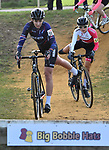 London UK 13th January 2019 British Cyclo Cross National Championships at Cyclo Park Gravesend Kent UK Action during the Elite Womens Race won here by Nikkin Brammeier MUDIITA