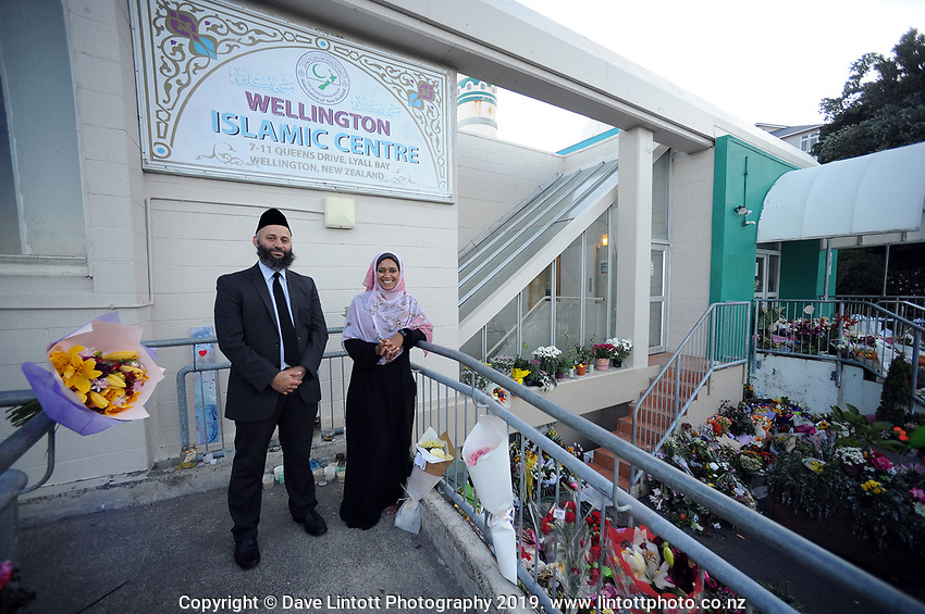 International Muslim Association of New Zealand president Tahir Nawaz (left). Wellington Islamic Centre in Wellington, New Zealand on Tuesday, 19 March 2019. Photo: Dave Lintott / lintottphoto.co.nz