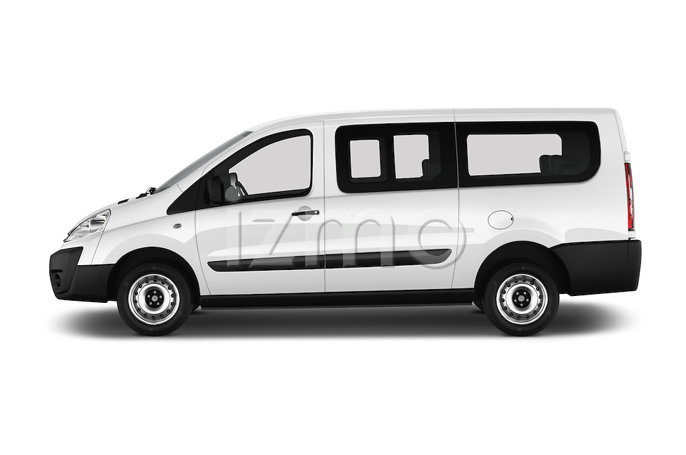 Car Driver side profile view of a 2015 Citroen JUMPY-MULTISPACE Attraction-l2h1 5 Door Combi Side View