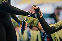 Team Mitchelton-Scott pre-race<br /> <br /> Stage 3 (Team Time Trial): Cholet > Cholet (35km)<br /> <br /> 105th Tour de France 2018<br /> ©kramon
