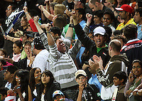 NZ fans celebrate during 2nd Twenty20 cricket match match between New Zealand Black Caps and West Indies at Westpac Stadium, Wellington, New Zealand on Friday, 27 February 2009. Photo: Dave Lintott / lintottphoto.co.nz