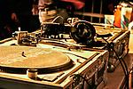 Turntables after DJ Kool Herc's set on UW-Madison's Memorial Union Terrace