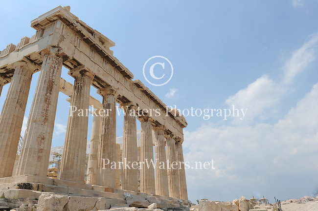 The Parthenon at the Acropolis in Athens, Greece.