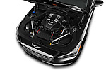 Car Stock 2017 Genesis G90 Ultimate 4 Door Sedan Engine  high angle detail view