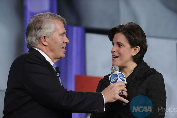 14 JAN 2011: Honorees and guests participate in the NCAA Honors Celebration at the 2011 NCAA Convention held at the Hyatt hotel in San Antonio, TX. Stephen Nowland/NCAA Photos.Pictured: Lisa Caputo