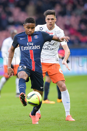 05.03.2016. Paris, France. French League 1 football. Paris St Germain versus Montpellier.  Nkunku Christopher Alan (PSG)