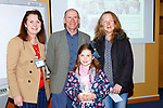 James Tobin Director of Production in Astellas Killorglin and Liz Maher left Director of Kerry Expo welcomed competition winner Aisling McCarthy and her teacher Helen Cronin from Kilgarvan NS to their premises on Friday