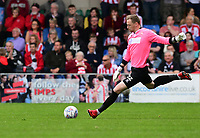 Lincoln City's Ryan Allsop<br /> <br /> Photographer Chris Vaughan/CameraSport<br /> <br /> The EFL Sky Bet League Two Play Off First Leg - Lincoln City v Exeter City - Saturday 12th May 2018 - Sincil Bank - Lincoln<br /> <br /> World Copyright &copy; 2018 CameraSport. All rights reserved. 43 Linden Ave. Countesthorpe. Leicester. England. LE8 5PG - Tel: +44 (0) 116 277 4147 - admin@camerasport.com - www.camerasport.com