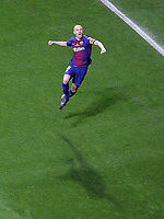 FC Barcelona's Andres Iniesta celebrates goal during Spanish King's Cup Final match. April 21,2018. (ALTERPHOTOS/Acero)