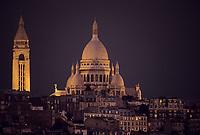 Europe/France/Ile-de-France/Paris: Montmartre et le Sacré Coeur la nuit