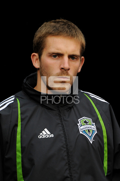 Seattle Sounders goalkeeper Ben Dragavon (22). The New York Red Bulls  and the Seattle Sounders played to a 1-1 tie during a Major League Soccer match at Giants Stadium in East Rutherford, NJ, on June 20, 2009.