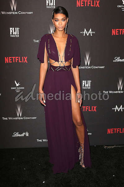 08 January 2016 - Beverly Hills, California - Chanel Iman. 2017 Weinstein Company And Netflix Golden Globes After Party held at the Beverly Hilton. Photo Credit: F. Sadou/AdMedia