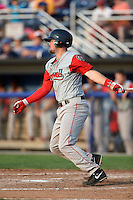 Lowell Spinners third baseman Jordan Betts (22) at bat during a game against the Batavia Muckdogs on July 18, 2014 at Dwyer Stadium in Batavia, New York.  Lowell defeated Batavia 11-2.  (Mike Janes/Four Seam Images)