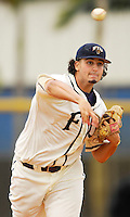 Florida International University Golden Panthers versus the .Missouri Tigers at University Park Stadium, Miami, Florida on Sunday, February 11, 2007.  The Tigers defeated the Golden Panthers, 3-2...Sophomore pitcher Jorge Ramos (22)
