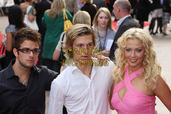 "ALEX PETTYFER & LIZ FULLER .""Righteous Kill"" UK film premiere, Empire Leicester Square, London, England. .September 14th, 2008 .half length dress pink white shirt .CAP/MAR.©Martin Harris/Capital Pictures."